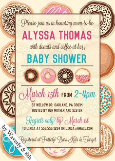 DIY Printable Baby Shower Invite (Printing services available)