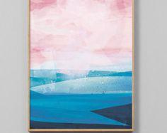 Printable Abstract Art Beach Painting Digital Download Sea