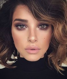 natural make-up ideas; glam make-up looks; Make-up looks for brown eyes - Prom Makeup Makeup Hacks, Makeup Goals, Makeup Inspo, Makeup Inspiration, Beauty Makeup, Hair Beauty, Makeup Ideas, Makeup Lips, Eyeshadow Makeup