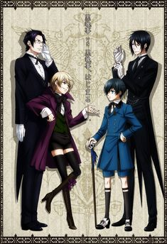 Claude (Demon Butler) and Alois Trancy . Sebastian (Demon Butler) and Ciel Phantomhive Black Butler Ciel, Ciel Phantomhive, Anime Kuroshitsuji, Black Butler Kuroshitsuji, Undertaker, Otaku, I Love Anime, Awesome Anime, Ciel And Alois
