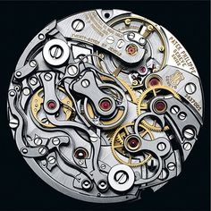 watch working gears silver metal intricate design