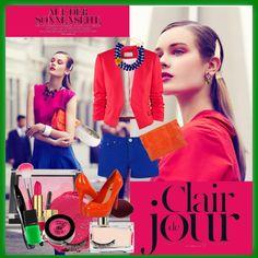 """Clair de Jour"" by anjaaaaaaa ❤ liked on Polyvore"