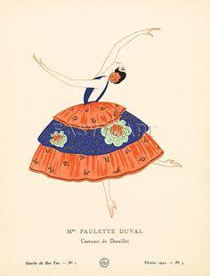 Mme Paulette Duval - Gazette Du Bon Ton, Courtauld Collection