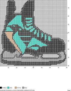 PITTSBURGH PENGUINS ICE SKATE WALL HANGING by SUNSHINE DESIGNS