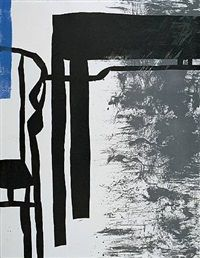 Wang Huaiqing, Beijing, 'takes inspiration from the lines & deconstruction of tradional furniture' in his painting. See a link under Blogroll to Anna Ning Fine Art (under WH). | Decanted