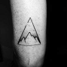 200+ Best Mountain Tattoos for Men (2020) Range, Geometric, Simple, Small Designs Dreieckiges Tattoos, Tricep Tattoos, Retro Tattoos, Tattoo Drawings, Small Tattoos, Tattoos For Guys, Sleeve Tattoos, Cool Tattoos, Random Tattoos