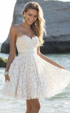 7 amazing short white prom dresses