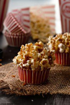 Brown Butter Salted Caramel Popcorn Cupcakes | urbanbakes.com