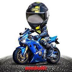 MiniBuddz (@minibuddz) • Instagram photos and videos Motorcycle Humor, Motorcycle Art, Bike Art, Moto Bike, Sportbikes, Motogp, Cars And Motorcycles, Luxury Cars, Chibi