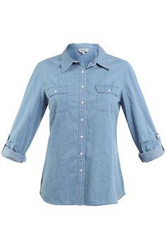 Tops - Emerson Long Sleeve Chambray Shirt - BIG W - Mobile $20