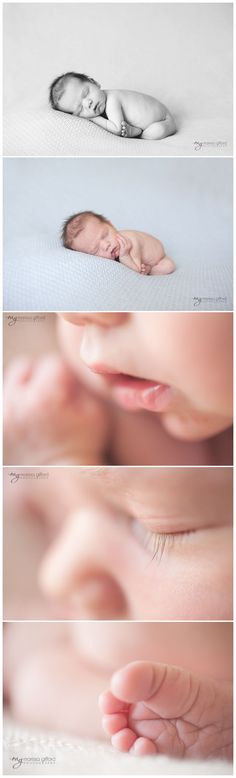 Natural light newborn photography - posed & macro shots  Have to always get the close ups of precious little features