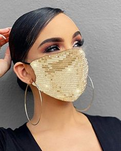 Gifts For Family, Gifts For Friends, Environmentally Friendly Gifts, Tapas, Dress The Population, Fashion Face Mask, Summer Fashion Trends, Diy Mask, Silver Sequin