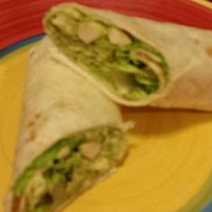 Basil-Avocado Chicken Salad Wraps