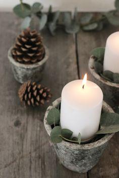 Advent, Adventskranz, Eukalyptus Christmas 2017, Wabi Sabi, Candlesticks, Pillar Candles, Tea Lights, Dani, Inspiration, Candles, Atelier