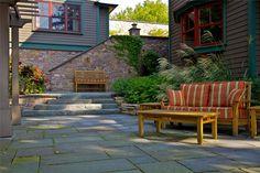 Coastal, Patio, Stone Flagstone Patio A J Miller Landscape Architecture Syracuse, NY