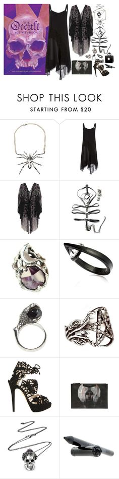 """How to wear: an occult activity book"" by ghoulnextdoor ❤ liked on Polyvore featuring TOM BINNS DESIGN, Alberta Ferretti, One Vintage, MANIAMANIA, Selda Okutan, KD2024, Pamela Love, Charlotte Olympia, Givenchy and AMOUAGE"