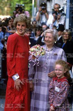 16 May 1988 Princess Diana Arrives At National Children's Bureau In London