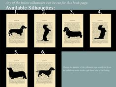 Dachshund Silhouette of Your Choice Mounted on by silhouetteMYpet, $25.00