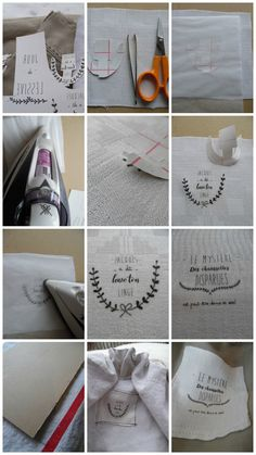 Steps to making your own transferts Make Your Own, Make It Yourself, 21st, Couture, Fabric, Diy, Tutorials, Hipster Stuff, Tejido