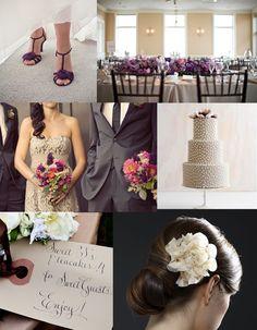 Pretty Purple And Taupe Wedding Charcoal Autumn Fun
