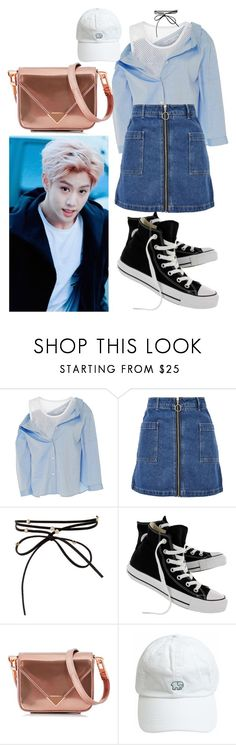 """""""Mark Inspired Outfti #2"""" by flaviaazevedo2000 ❤ liked on Polyvore featuring Sandy Liang, Topshop, Converse, Alexander Wang, kpop, mark, bias and GOT7"""