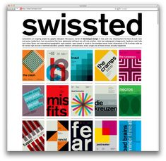 Swissted | Mike Joyce    Redesigned rock show posters in swiss modernist style - love