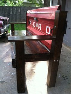Ford tailgate bench by BenRayCraft8 on Etsy