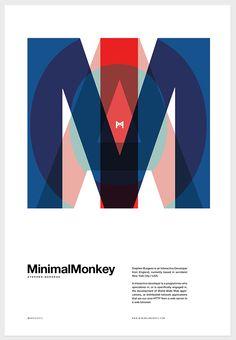 MinimalMonkey by Tobias van Schneider, via Behance