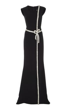 Shop Embellished Bow Gown. This **Reem Acra** Embellished Bow Gown features a fitted silhouette and an extended train.