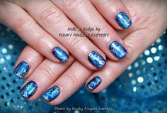 What I Used: Harmony Gelish – Live Like There's No Midnight Blue and Silver Nail Art Transfer Foils