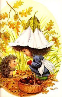 Victoria Plum and the Hedgehog - loved the illustrations. Hedgehog Art, Plum Bedding, Plum Art, Victoria Plum, Art Fantaisiste, Minimal Drawings, Holly Hobbie, Flower Fairies, Fairy Art