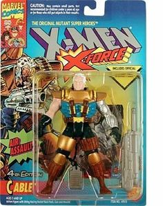 Cable Action Figure - 1994 - 4th Edition - X-Men / X-Force Series - Marvel - w/ String Racing Rocket Back PAck, Gun & Missile - Trading Card - Toy Biz - Limited Edition - Mint - Collectible by Toy Biz. $9.99. Limited Edition. Includes Official Marvel Trading Card. X-Men / X-Force Series. With String Racing Rocket Back PAck , Gun , Missile. Cable Action Figure. 1994 - Cable Action Figure - X-Men / X-Force Series - Toy Biz - With Air Assault String Racing Rocket Back P...