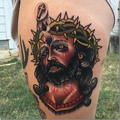 Jesus is a reputation from the Hebrew language and means Savior and Eternity of God. The respectful time period Jesus Christ comes from the Outdated Testomony of the Bible to check with a non Christ Tattoo, Jesus Tattoo, Traditional Tattoo Painting, Tattoo Trends, Tattoo Ideas, Christian Religions, Holy Quotes, Old Testament, Jesus Christ