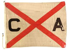 House flag, Canadian Australasian Line - National Maritime Museum