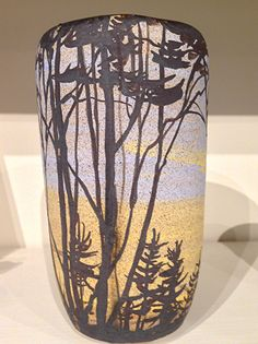 Vase by Adirondack Artists Guild member Mary Lou Reid. Clay ~ 7 x 3
