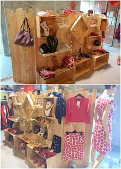Thinking about bringing something favorably creative in your clothing shop stand? Well, for that sake, you can bring pleasant impact in your clothing shop through this awesome wood pallet creation idea. This creation is basically highlighting the rack creation where you can hang your clothes for sale.