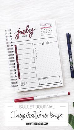 Inspirations Bullet Journal – For Women Bullet Journal Agenda, Bullet Journal Spread, Bullet Journal Layout, My Journal, Bullet Journal Inspiration, Calendar Journal, Bullet Journals, Organization Bullet Journal, Planner Organization