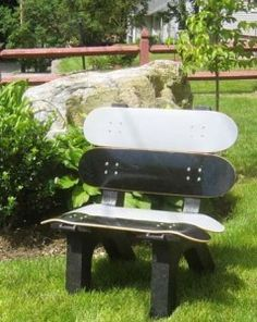 Upcycle - skateboard chair