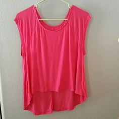 Pink Shirt Adorable Comfortable Pink shirt! Worn Once! Like new!  It is a real pink. Looks more like a medium /small. Mudd Tops Blouses
