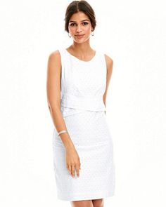 Waist-Detail Sheath Dress. Simple dress but does the job. Effortlessly stylish