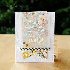 Things will get better - Hero Arts - Julie Ebersole Hero Arts, Card Envelopes, Card Making Inspiration, Pretty Cards, Card Maker, Copics, Paper Cards, Cool Cards, Greeting Cards Handmade