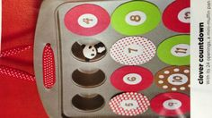 Cool countdown with cookie sheet and circle cut magnets