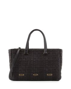 Pandora Demi Woven Tote Bag, Black by VBH at Neiman Marcus.