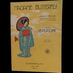 Madame Butterfly Opera in Three Acts Book ~ 1907 copy 266 pgs ~ Beautiful Cover ~ G. Puccini Printed by G. Ricordi by EclecticJewells on Etsy Madame Butterfly Opera, Beautiful Cover, Hawks, Eagles, Acting, Birds, Printed, Book, Etsy