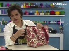 Bolsa de tecido Gabriele - Maria Adna Ateliê - Cursos e aulas de bolsas de tecido e couro - YouTube