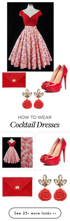 """Untitled #2739"" by bbossboo on Polyvore featuring Christian Louboutin and Jimmy Choo"