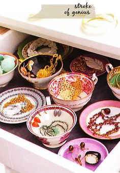 Teacups for Organizing Trinkets