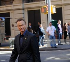 Actor Gary Sinise filming on location for 'CSI: New York' on October 1, 2012 in New York City.