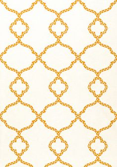 Gibraltar wallpaper in Orange and White from the Jubilee Collection by #Thibaut  #tangerinetango    great varying trellis shape!