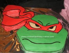 Homemade Ninja Turtles Birthday Cake: First I found a picture from one of my son's colour-in -books that I thought would be a good design for a Ninja Turtles Birthday Cake.  I then sketched